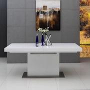 VIG Furniture Modrest Zenith Extendable Dining Table; White