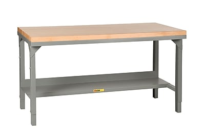 Little Giant USA Welded Steel Butcher Block Top Workbench; 42.75'' H x 72'' W x 36'' D