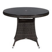 Rattan Outdoor Furniture Brighton Dining Table; Brown