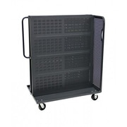 Valley Craft Modular 62'' x 36'' x 30'' A-Frame Bin Cart; Gray