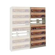 Datum Storage 4Post-In-A-Box 76.25'' H Eight Shelf Shelving Unit Add-on; Bone White