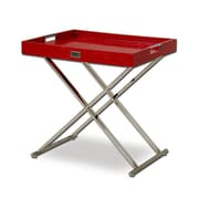 VIG Furniture A&X Cecilia Crocodile Tray Table; Red