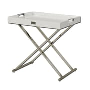 VIG Furniture A&X Cecilia Crocodile Tray Table; White