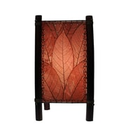 Eangee Home Design Bamboo And Cocoa Leaf Fortune Table Lamp -Burgundy (395-T-Bu)