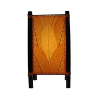 Eangee Home Design Bamboo And Cocoa Leaf Fortune Table Lamp -Orange (395-T-O)