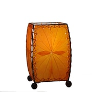 Eangee Home Design Square Alibangbang Leaf Mini Table Lamp -Orange (477-O)