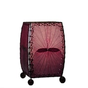 Eangee Home Design Square Alibangbang Leaf Mini Table Lamp -Purple (477-P)