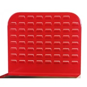 Valley Craft Modular Cabinet Back Louvered Bin Panel; Red