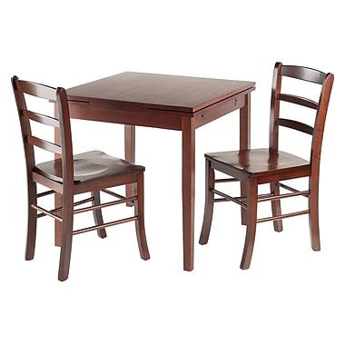 Winsome – Ensemble 3 pièces de la collection Pulman avec table à manger extensible et 2 chaises à dossier en barreaux (94352)