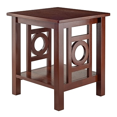 Winsome Ollie End Table, Walnut Finish, (94023)