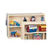 Constructive Playthings Double-Sided Preschool Storage Shelf Unit