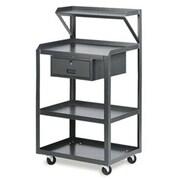 Valley Craft 4-Shelf Shop Desk with Locking Drawer