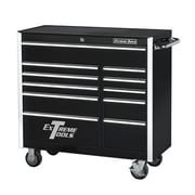 Extreme Tools 41.5'' 11 Drawer Professional Bottom Cabinet; Black