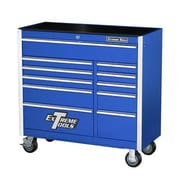 Extreme Tools 41.5'' 11 Drawer Professional Bottom Cabinet; Blue