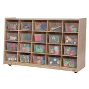 Wood Designs Tip-Me-Not 20 Compartment Cubby; Clear Tray