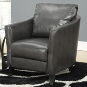 Monarch Specialties Inc. Arm Chair; Charcoal Grey
