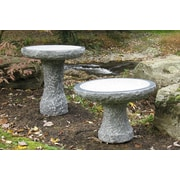 Stone Age Creations Natural Stone Plume Birdbath; Charcoal