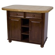 Sunset Trading Sunset Selections Nutmeg Kitchen Island with Wood Top