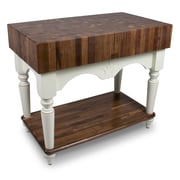 John Boos American Heritage Prep Table; Alabaster by