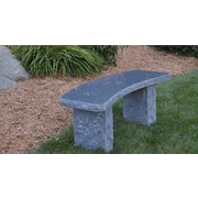 Stone Age Creations Curved Granite Garden Bench; Charcoal