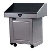 VFI Executive Multimedia Podium; Brushed Aluminum