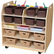 Wood Designs Trolley Art Cart with Trays; Brown