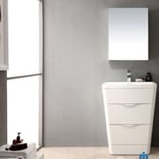 Fresca Milano 26'' Single Sink Modern Bathroom Vanity Set; Glossy White