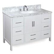 KBC California 48'' Single Bathroom Vanity Set; White