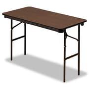 Iceberg Enterprises Iceberg Economy Wood Laminate 48'' Rectangular Folding Table