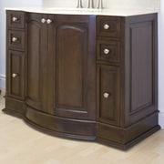 American Imaginations 49'' Traditional Birchwood-Veneer Vanity Base; Aluminum