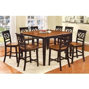Hokku Designs Exenia 9 Piece Counter Height Pub Dining Set; Black / Cherry
