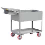 Little Giant USA Deep Shelf Steel Utility Cart with Writing Shelf and Storage Pocket