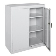 OfficeSource Deluxe 2 Door Storage Cabinet; Gray