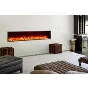 Dynasty 79'' Built-in LED Electric Fireplace