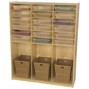 Wood Designs 21 Compartment Cubby Locker  ; Translucent