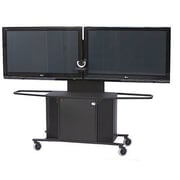 VFI Mobile Metal AV Cart with Dual Monitor Mount; 75'' H x 80'' W x 23.75'' D