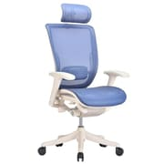 VIG Furniture Modrest Wright High-Back Mesh Conference Chair; White / Blue