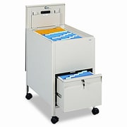 Safco Products Safco Locking Mobile Tub File with Drawer, Letter