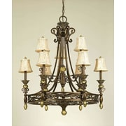 AF Lighting Baltic Elements 9-Light Shaded Chandelier