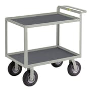 Little Giant USA 24'' x 53.5'' Utility Cart with Hand Guard with Non-Slip Vinyl Matting
