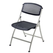 Mity Lite Flex One Folding Chair (Set of 40); Black / Silver