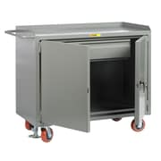 Little Giant USA 43.5'' x 53.5'' x 24'' Mobile Bench Cabinet w/Locking Doors and Heavy-Duty Drawer