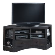 Sauder Harbor View TV Stand; Antiqued Paint