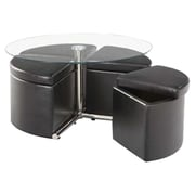 Standard Furniture Cosmos Coffee Table w/ Ottoman (Set of 4)