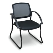 Marvel Office Furniture Fermata  Mesh Sled Base Visitor Chair with Arms; Black