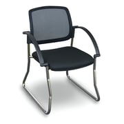 Marvel Office Furniture Fermata  Mesh Sled Base Visitor Chair with Arms; Aluminum