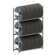 META Storage Solutions Inc. Clip S3 Tire Storage 79'' H Three Shelf Shelving Unit