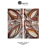 Majestic Mirror Colorful Abstract Rectangular Back Painted Plexiglass 2 Piece Painting Print Set
