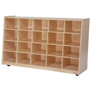 Wood Designs Tip-Me-Not 20 Compartment Cubby; No Tray