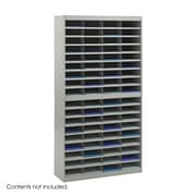 Safco Products Steel Literature Organizer with 72 Letter-Size Compartments; Gray